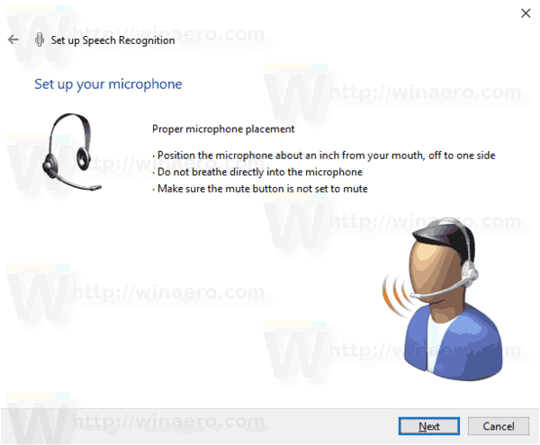 Windows 10 Enable Speech Recognition Step 3