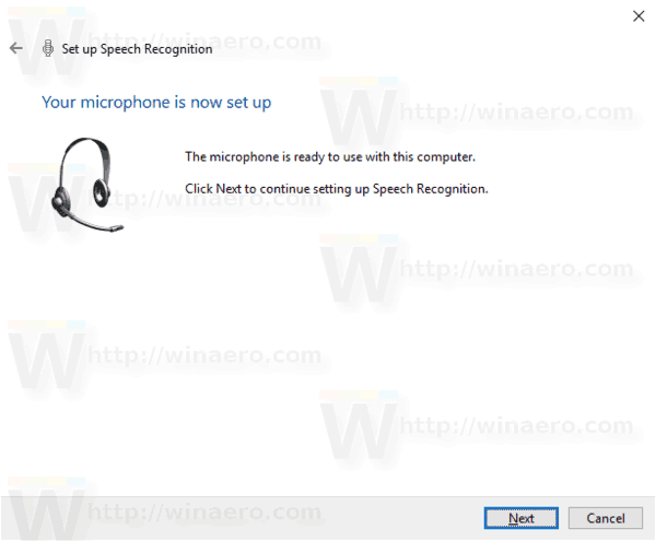 Windows 10 Enable Speech Recognition Step 5