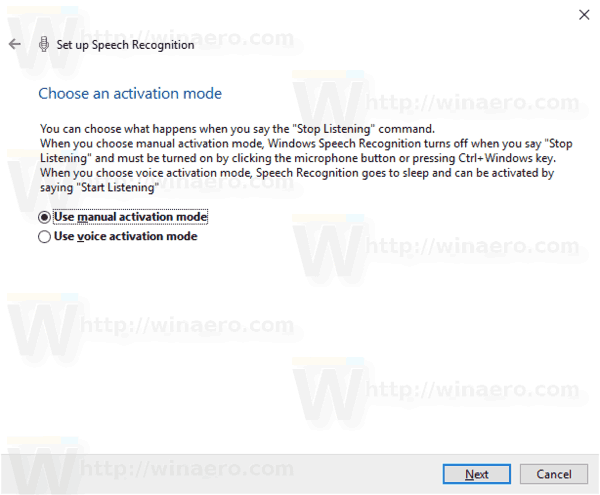 Windows 10 Enable Speech Recognition Step 7