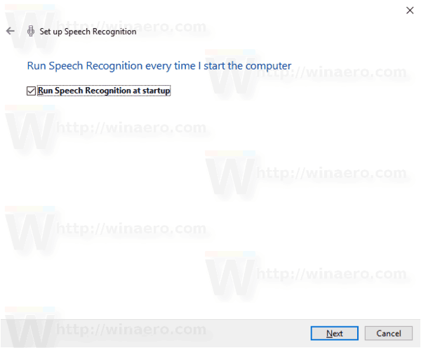 Windows 10 Enable Speech Recognition Step 9