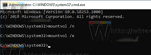 Windows 10 Mountvol Automount Enable