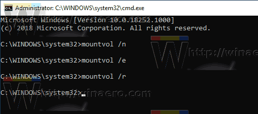 Windows 10 Mountvol Automount Scrub