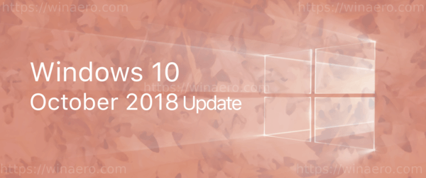 Windows 10 October 2018 Update Banner