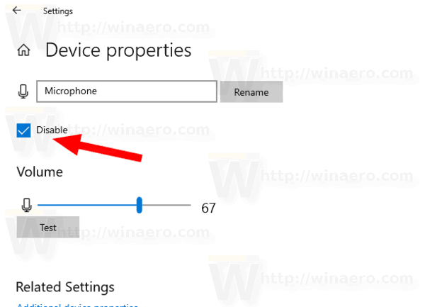 Disable the Microphone in Windows 10