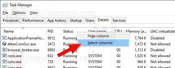 Windows 10 Enable DPI Awareness Column 1