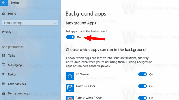 Windows 10 Fix Background Apps