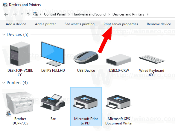 Uninstall Printer Driver in Windows 10