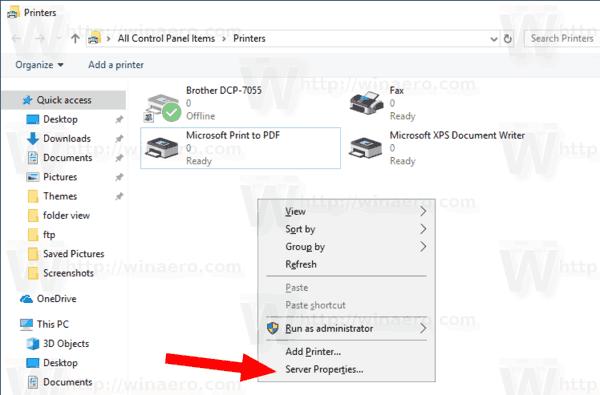 Uninstall Printer Driver in Windows 10
