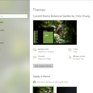 Botanical Garden theme for Windows 10, Windows 8 and Windows 7