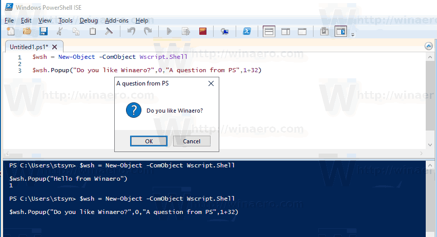 Question From PowerShell Windows 10