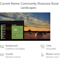 Rural Landscapes theme for Windows 10, Windows 8 and Windows 7