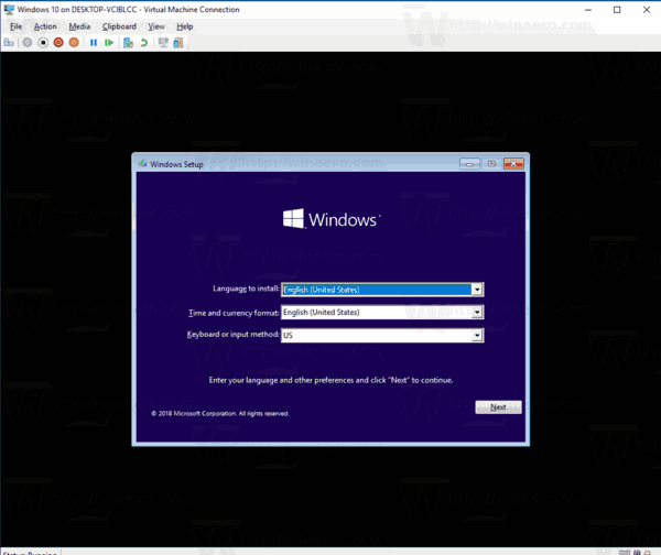 Windows 10 Create New VM 12