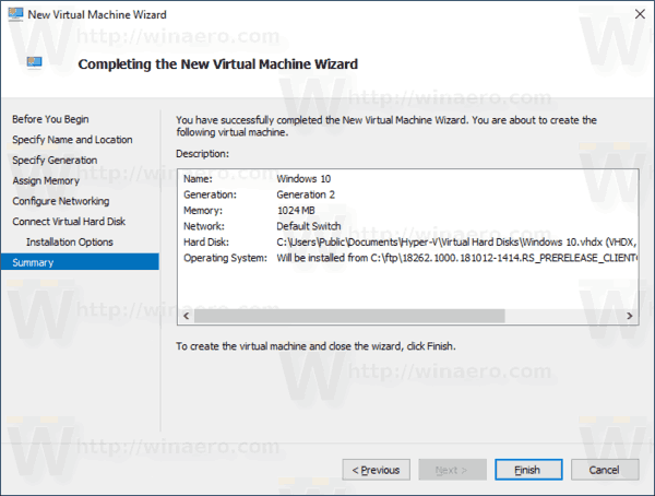 Windows 10 Create New VM 9