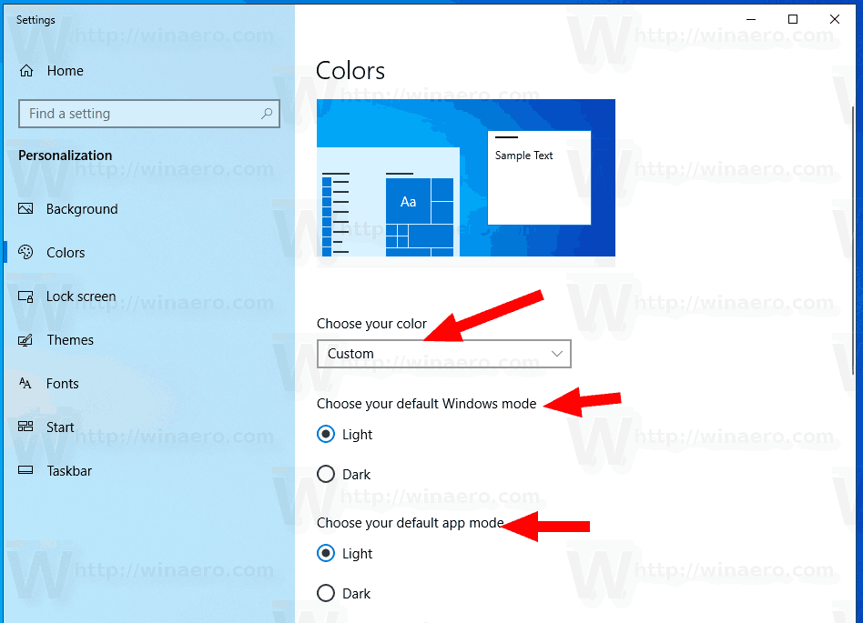Windows 10 Customize Light Theme