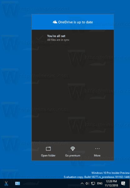 Windows 10 OneDrive Dark Theme