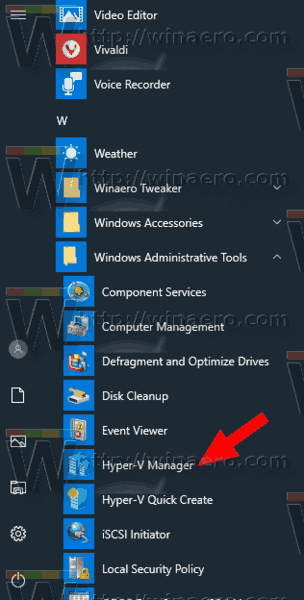 Windows 10 Open HyperV Manager