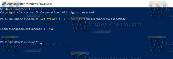 Windows 10 PowerShell Enable EnhancedSessionMode