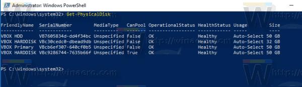 Windows 10 Storage Spaces Drive Rename PS