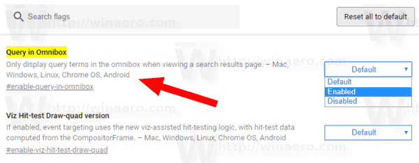 Chrome Query In Omnibox Flag