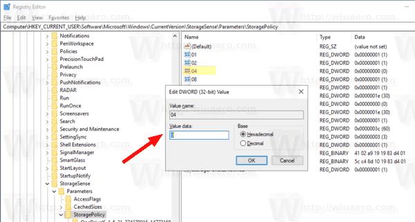 Disable Storage Sense to Delete Temporary Files in Windows 10