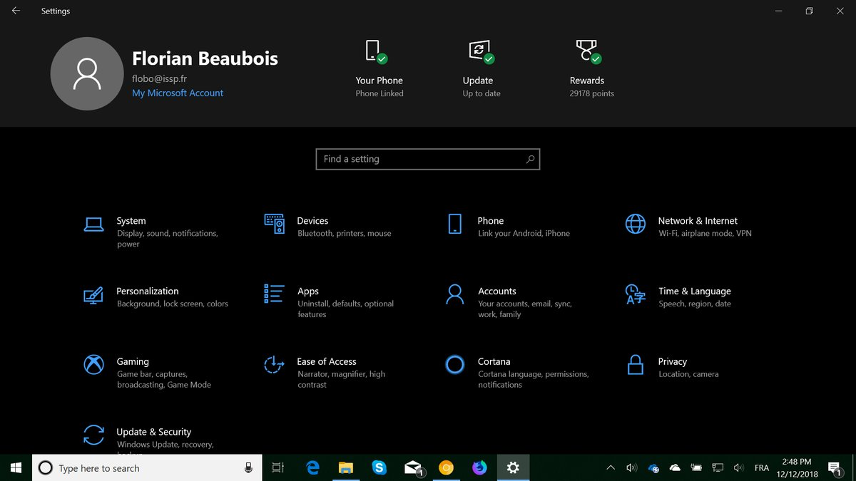 Windows 10 New Settings Page Ver 1