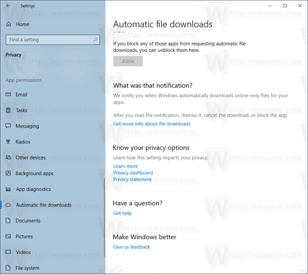 Allow Automatic File Downloads In Windows 10