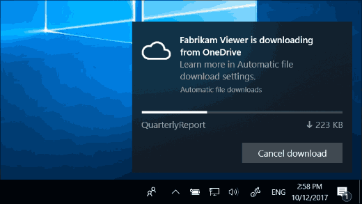 Automatic File Download Notification