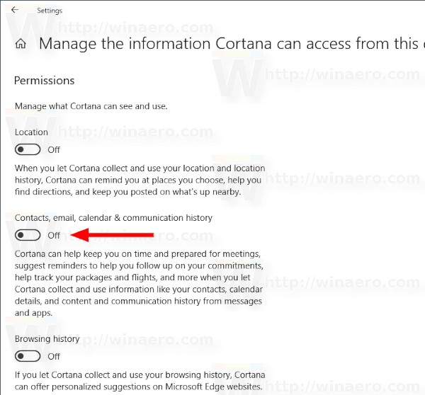 Cortana Prevent From Accessing Contacts