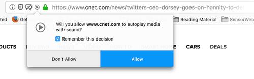 Firefox Autoplay Sound Blocker Notification