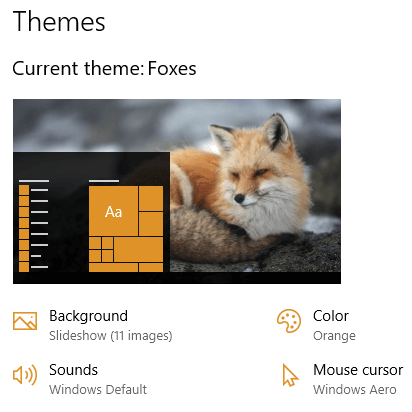 Foxes theme for Windows 10, Windows 8 and Windows 7