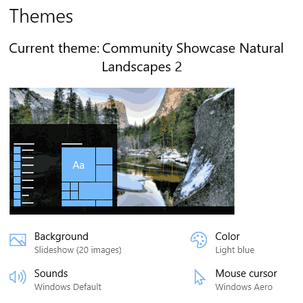 Natural Landscapes 2 theme for Windows 10, Windows 8 and Windows 7