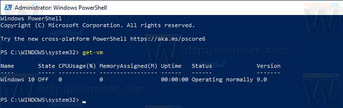 PowerShell Get VM Hyper V