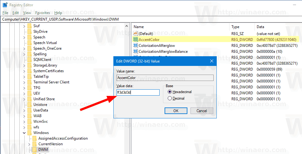 Windows 10 AccentColor