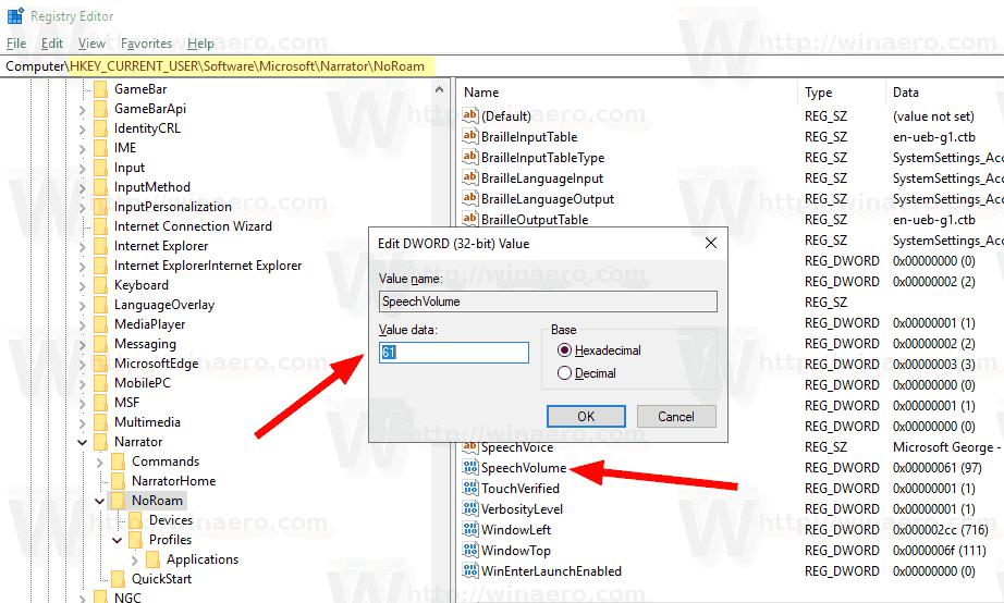 Customize Narrator Voice in Windows 10