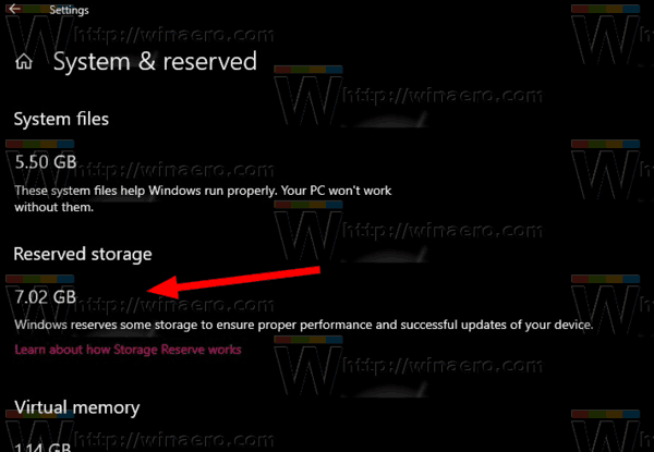 Windows 10 Check Reserved Space Size Step 4
