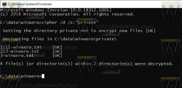 Windows 10 Decrypt A Folder