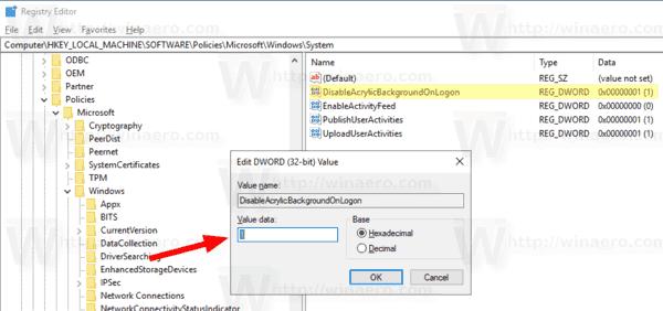 Windows 10 Disable Blur On Login Screen