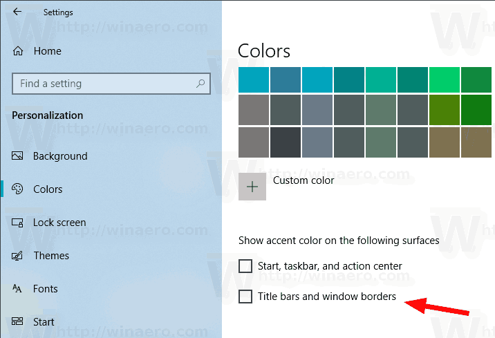 Windows 10 Disable Title Bar Color