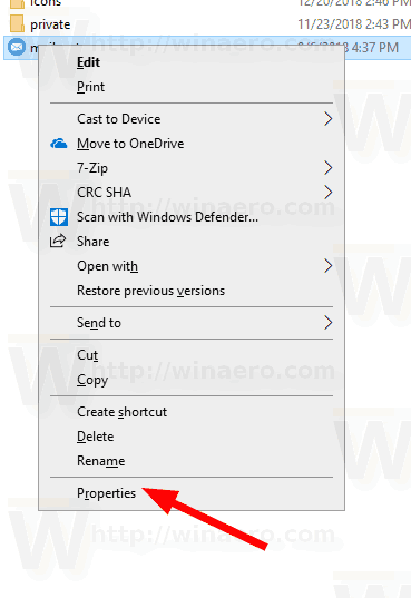 Enable or Disable Inherited Permissions in Windows 10