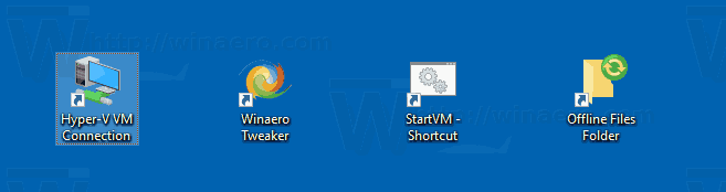 Windows 10 Hyper V Connection Shortcut 2