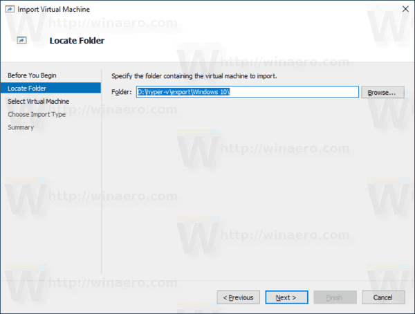Windows 10 Hyper V Browse For Folder