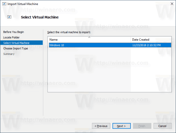 Windows 10 Hyper V Select Vm To Import