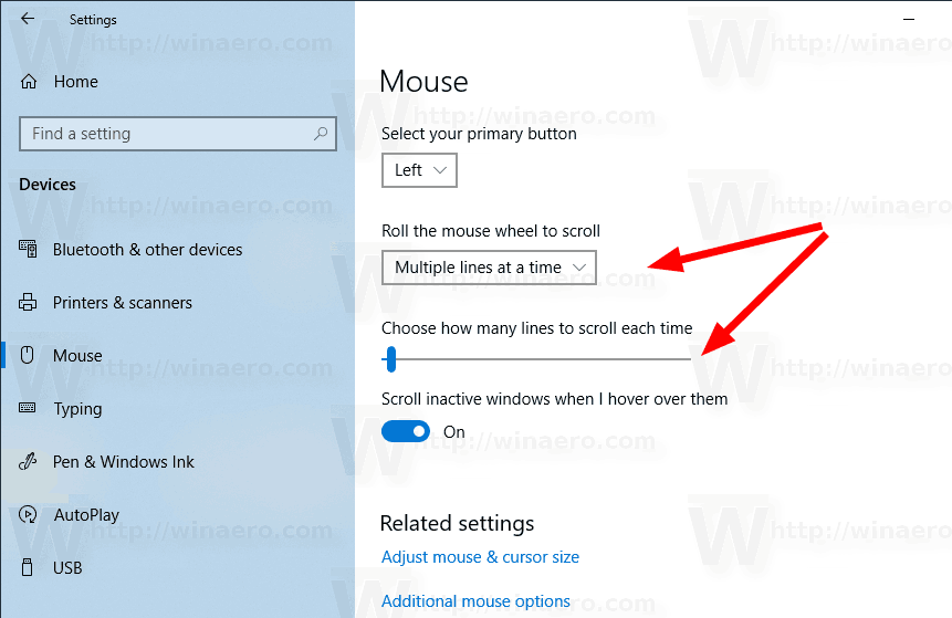 Windows 10 Mouse Number Of Lines To Scroll Settings 1