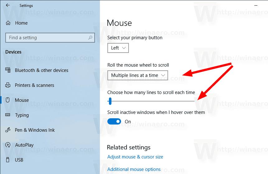 Change Mouse Scroll Speed in Windows 10