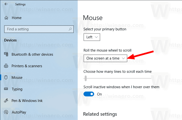 Windows 10 Mouse Number Of Lines To Scroll Settings 2