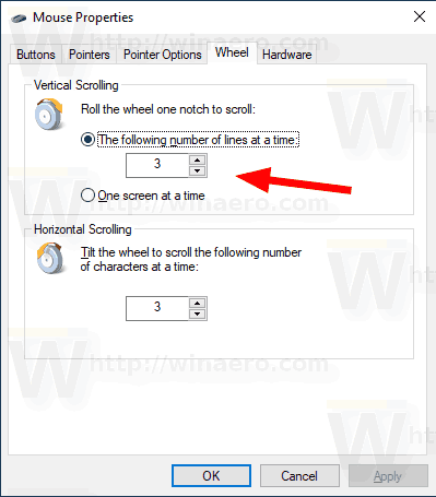 Windows 10 Mouse Number Of Lines To Scroll