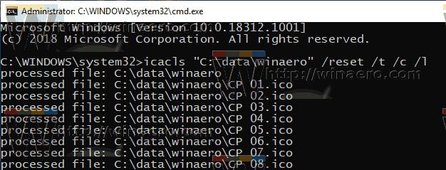 Windows 10 Reset NTFS Permissions 1