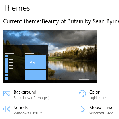 Beauty of Britain theme for Windows 10, Windows 8 and Windows 7