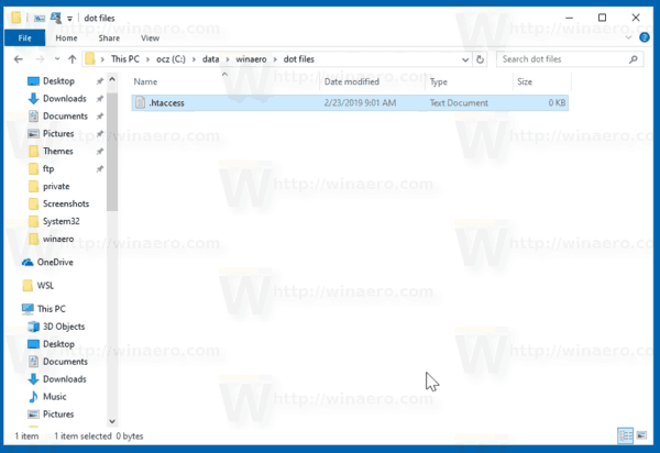 Create A File With A Name Starting With A Dot In Windows 10 2