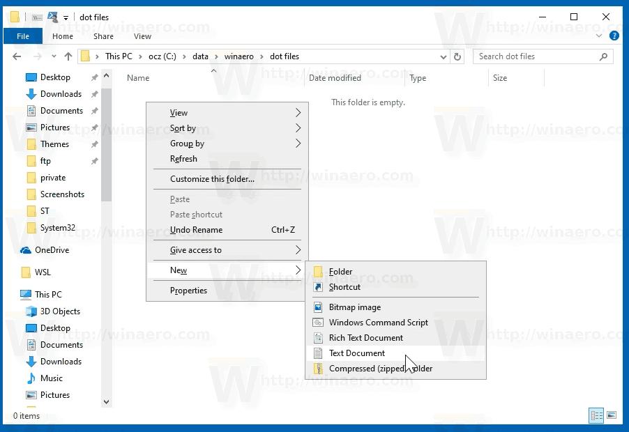 File Explorer New Text Document